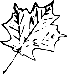 September Leaves Clipart Black And