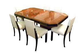 French Art Deco Dinning Suite Exotic Wood