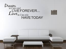 Details About DREAM LIVE Girls Teen Bedroom Vinyl Wall Quote Art Decal Sticker Room Decor Gift