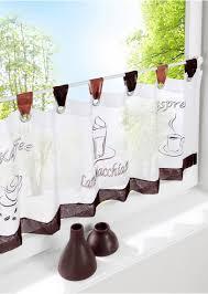 kurzstore kaffee schlaufen vorhänge küche gardinen