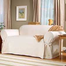 Sure Fit Sofa Slipcovers Amazon by Amazon Com Sofa Slipcover White Natural Sure Fit Sailcloth