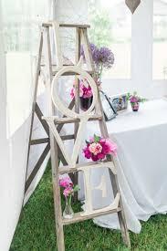 Rustic Ledder And LOVE Letter Wedding Decor Ideas