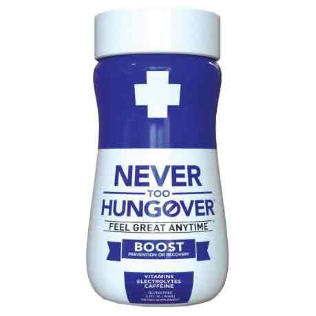 Never Too Hungover Boost Hangover Drink