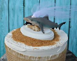 Bull Shark Wedding Cake Topper Destination Beach Hawaii