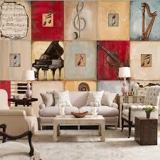 Wallpaper 3d Piano Music Retro Oil Painting Mural Restaurant Living Room Bedroom Hotel Studio