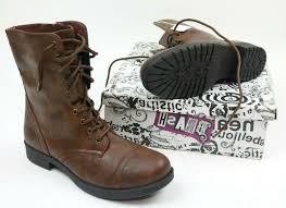 100 Brash Brands Deejay Womens Boots Brown High Top Military