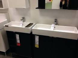 Small Trough Bathroom Sink With Two Faucets by Large Bathroom Sink 2 Faucets Long Contemporary With Double