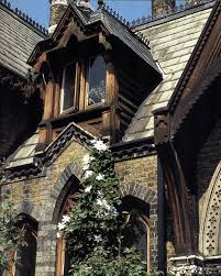The Stunning Facade Of A Rustic Gothic Revival Home Swoons Then