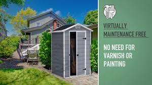 4x6 Plastic Storage Shed by Keter Manor 4x3 Outdoor Garden Storage Shed Youtube