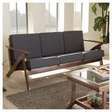 Target Room Essentials Convertible Sofa by Cayla Mid Century Modern Fabric Living Room 3 Seater Sofa