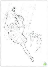 Pink Coloring Page Pages Free Ballerina Barbie In The Shoes Printable