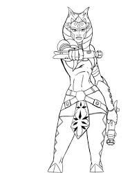 Star Wars Coloring Pages Ahsoka