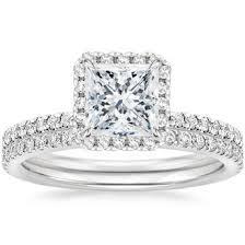 Princess Cut Bridal Sets Wedding Ring Sets