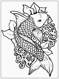 Elegant Fish Coloring Pages For Adults 81 With Additional Line Drawings