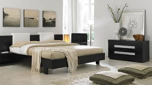 Bedroom Splendid Ideas For Little Boy Decor With Black Bed And Brown Bedding Also Cabinet Plus Three Painting On The White Wall