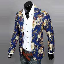 jackets suits one button pop printed floral blazer casual slim fit
