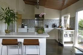 grey tile backsplash powder room modern with accent wall bathroom