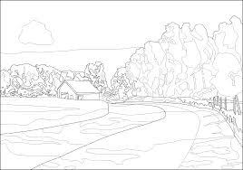 Landscape Coloring Pages Printable