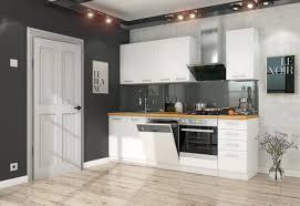 küche eko white basic 240cm weiß küchenzeile küchenblock einbauküche singleküche