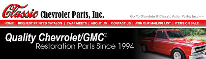 Classic Chevrolet Parts Catalog Order Form