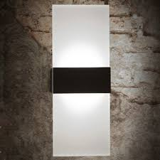 modern linear led wall sconce light aisle corner hallway black