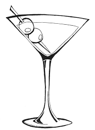 Cocktail Glass Drawing Dry Martini U