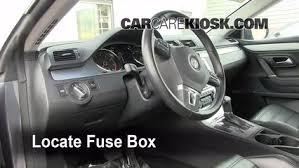 interior fuse box location 2009 2016 volkswagen cc 2009