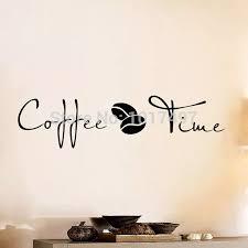 kaffee zeit zitate vinyl wandaufkleber klassische kaffeebohne wandtattoos für kaffee bar esszimmer dekoration