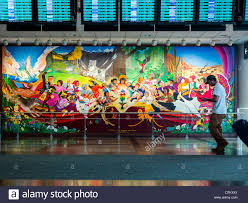 Denver International Airport Murals Painted Over by Denver International Airport Airplane Stock Photos U0026 Denver