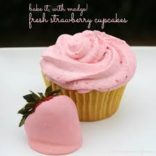 Bake up a batch of our Fresh Strawberry Cupcakes