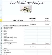 How To Make A Budget Sheet On Excel Wedding Spreadsheet