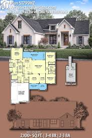 100 Home Architecture Designs Plan 51799HZ New American House Plan With Classic Painted