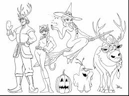Amazing Frozen Halloween Coloring Pages With Online And Play