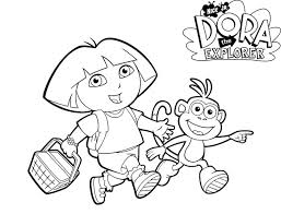 Dora The Explorer Coloring Pages And Boots