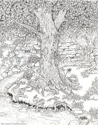 FAIRY GARDEN COLORING PAGE For The Little Ones And