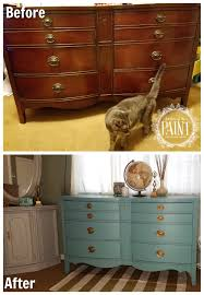 For Love Of The Paint Before And After Vintage Bowed Front Dixie Dresser In Provence