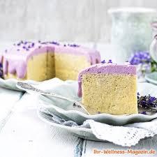 leichte low carb lavendel frischkäse torte rezept ohne zucker