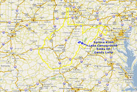 Sinks Of Gandy Directions by Maps And Aerial Photos Of Spruce Knob Lake Campground Sinks Of