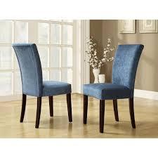 Homelegance Royal Blue Chenille Parson Chairs Espresso Velvet Dining