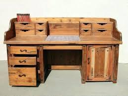 Old Office Desks Wood Rustic Corner Desk L Shaped Style Home Image Of Western