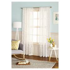 Lace Window Curtains Target by Botanical Burnout Sheer Curtain Panel Threshold Target
