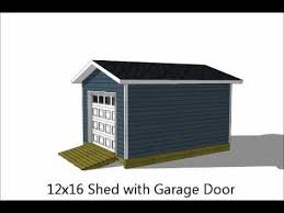 12x16 Wood Storage Shed Plans by 5 Exciting 12x16 Storage Shed Plans Youtube