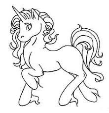 Unicorn Coloring Pages Easy