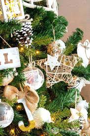 Rustic Christmas Tree Our Cute Flocked And Burlap Ornaments Were Next I Got Plenty Of