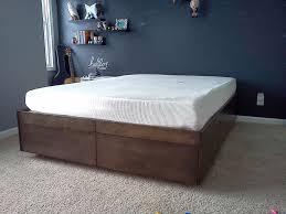 diy platform bed with drawers ikea diy platform bed with drawers