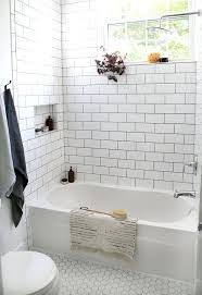 Tiles:Beautiful Farmhouse Bathroom Remodel Hexagon Tile Bathroom ... White Tile Bathroom Ideas Pinterest Tile Bathroom Tiles Our Best Subway Ideas Better Homes Gardens And Photos With Marble Grey Grey Subway Tiles Traditional For Small Bathrooms Accent In Shower Fresh Creative Decoration Light Grout Dark Gray Black Vanities Lovable Along All As