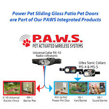 Dog Doors For Glass Patio Doors by Turns Any Sliding Glass Door Into A Fully Automatic Pet Door