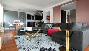 Grey Sectional Living Room Ideas by Small Sectional Sofa Family Room Contemporary With Gray Area Rug