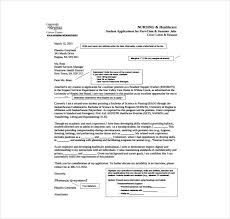 Nursing Health Care Cover Letter Pdf Template Free Download