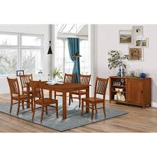 Shop Marbrisa Mission Oak 7-piece Dining Set - Free Shipping Today ... John Thomas Select Ding Mission Side Chair Fniture Barn Almanzo Barnwood Table Tapered Leg Black Base Amish Crafted Oak Room Set 1stopbedrooms Updating Style Chairs The Curators Collection Stickley Six Ellis A Original Sold Of 8 Arts Crafts 1905 Antique Craftsman Plans And With Urban Upholstered Rotmans Marbrisa Available At Jaxco